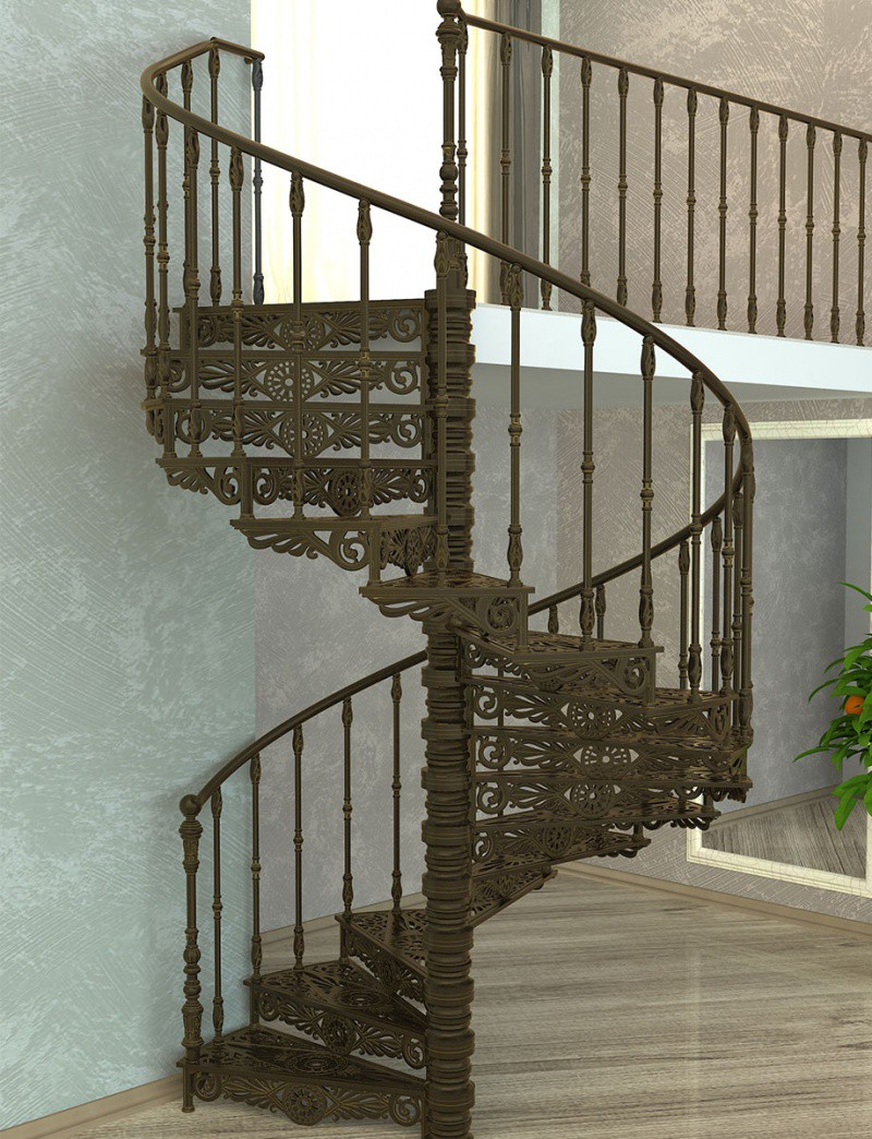 Чугунная винтовая лестница