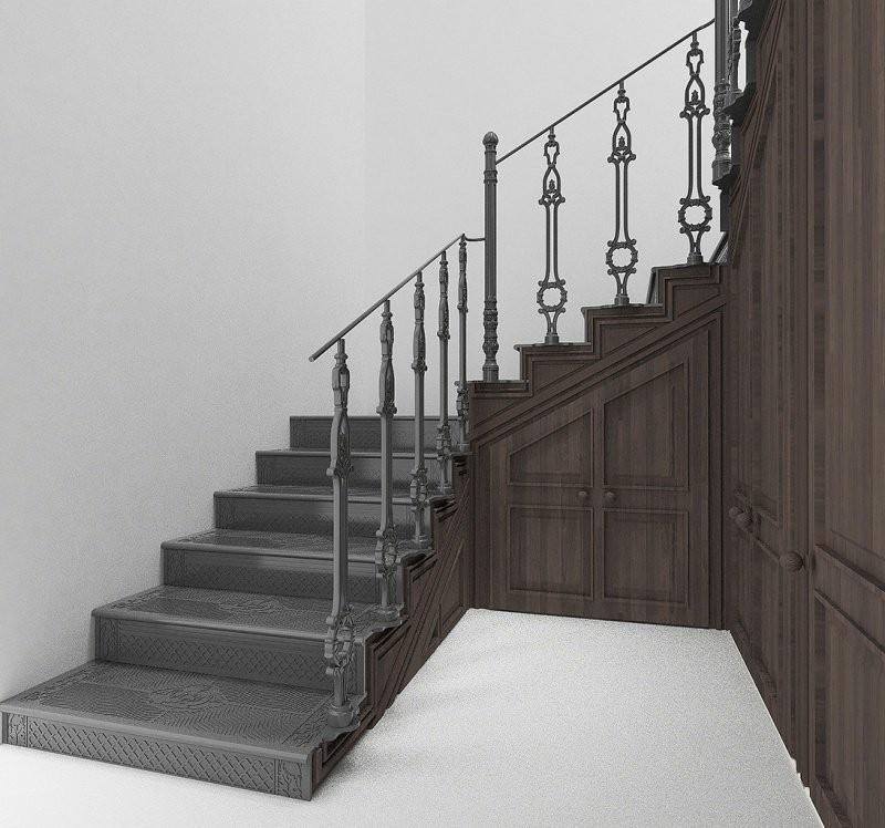 Чугунная маршевая лестница