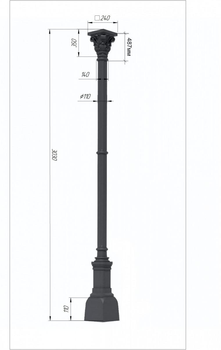 Чугунная колонна №6